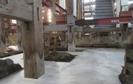 基礎コンクリートの流し込み段階1