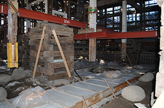 基礎コンクリートの流し込み段階2