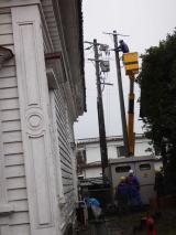 電柱移設工事開始
