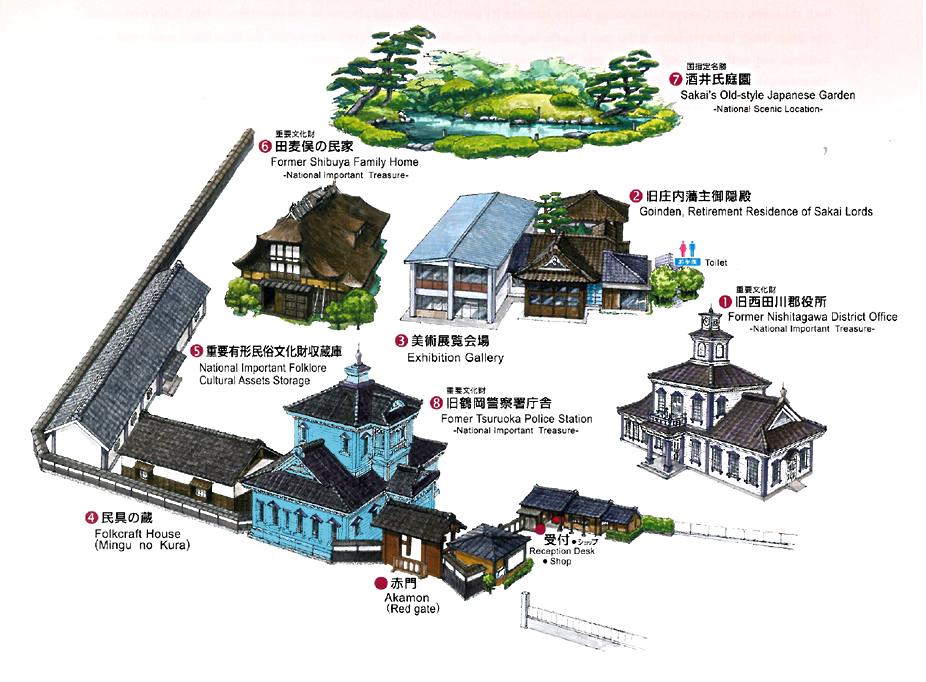 致道博物館案内図