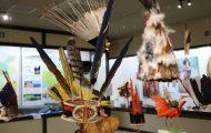 いろいろな羽根製頭飾り