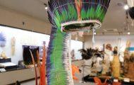 羽根製頭飾り。儀礼の際に多く使われる
